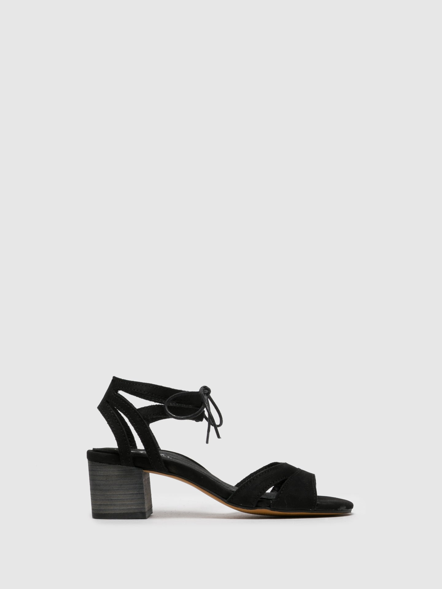 Bos&Co Black Ankle Strap Sandals