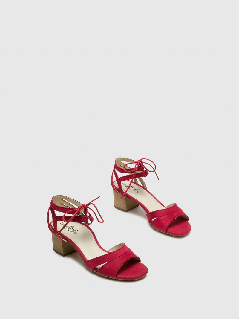 Red Ankle Strap Sandals