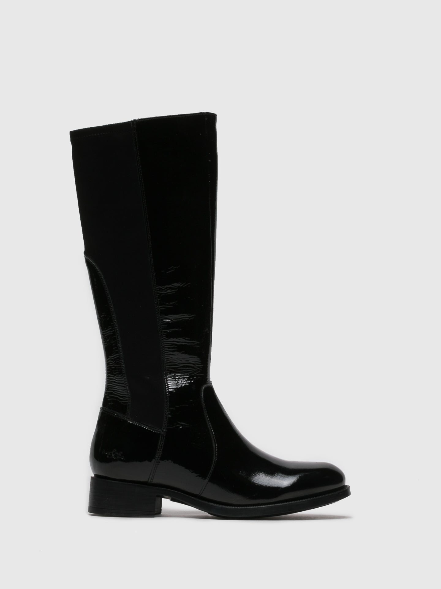 Bos&Co Gloss Black Knee-High Boots