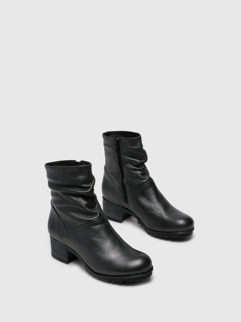 Bos&Co Gray Zip Up Ankle Boots