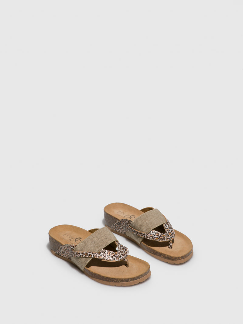 Bos&Co Multicolor Thong Flip-Flops