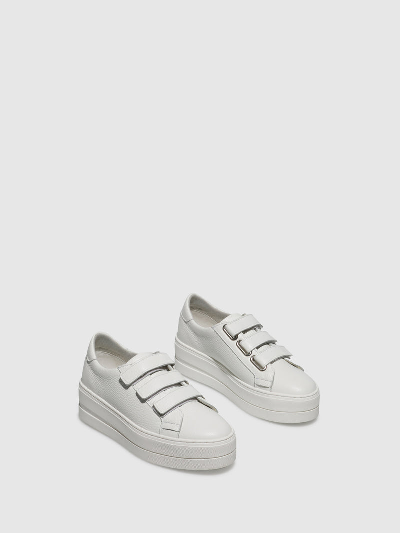 Bos&Co White Velcro Trainers