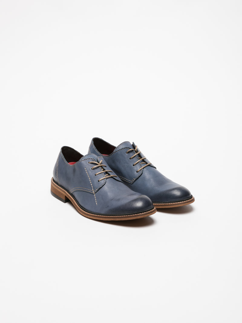Blue Derby Shoes