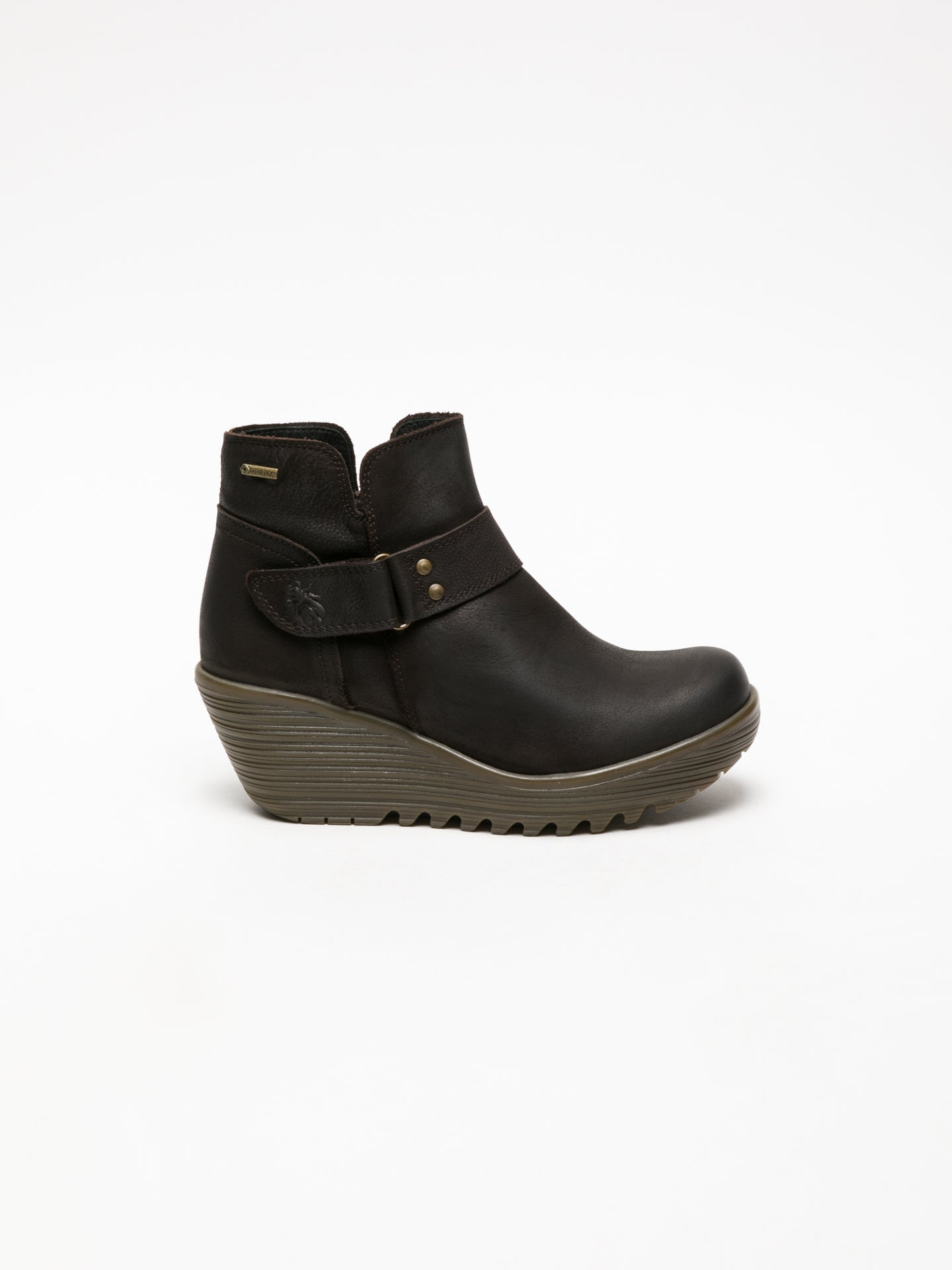 Fly London Brown Velcro Ankle Boots