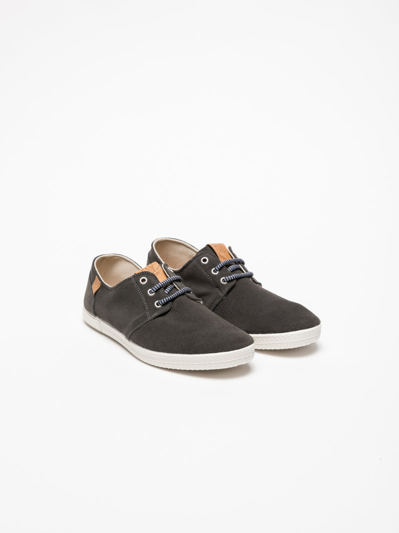 Fly London Black Lace-up Sneakers