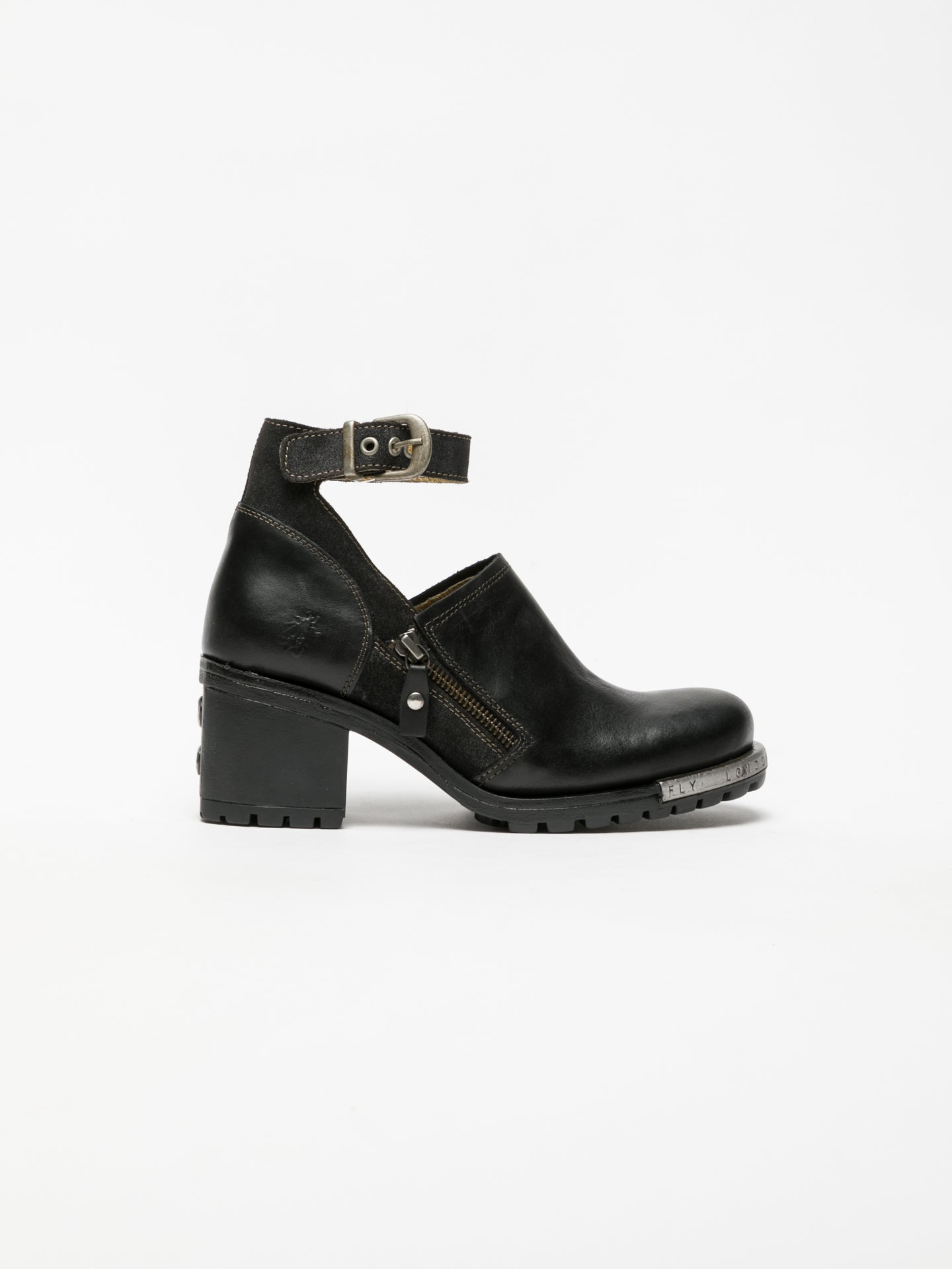 Fly London Black Monk Shoes