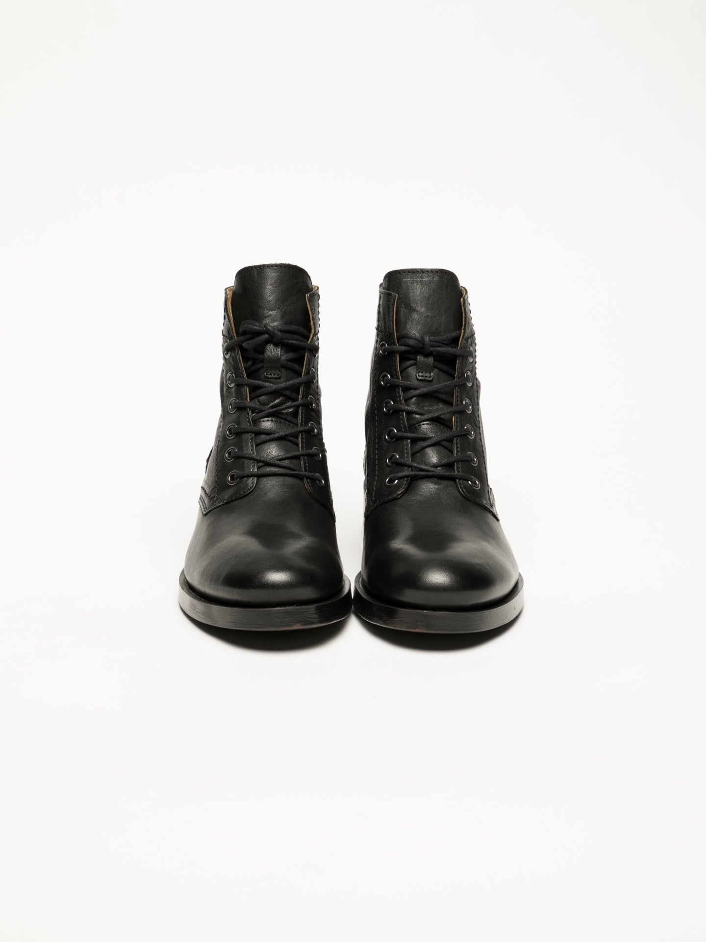 Black Lace-up Ankle Boots - Overcube