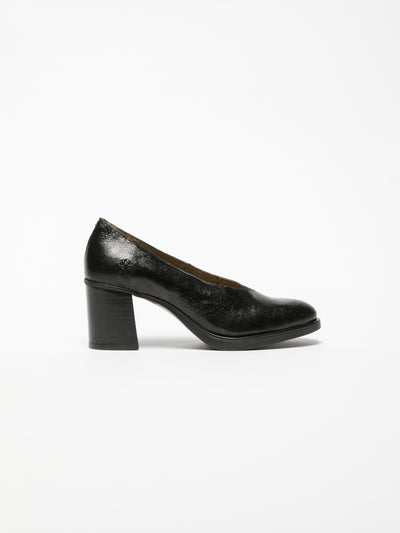 Fly London Black Block Heel Shoes