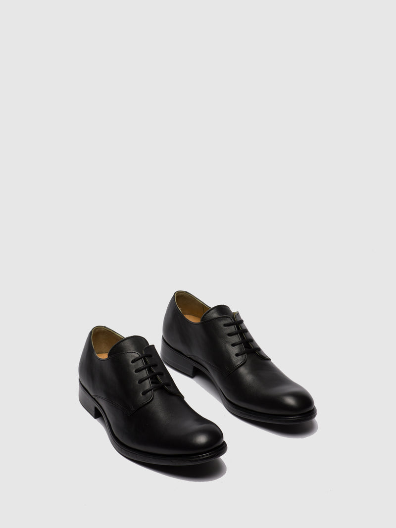 Fly London Black Leather Lace-up Shoes