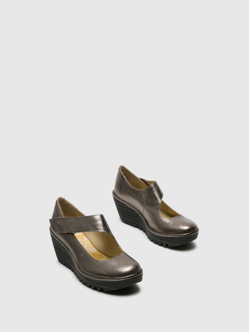 RosyBrown Wedge Shoes