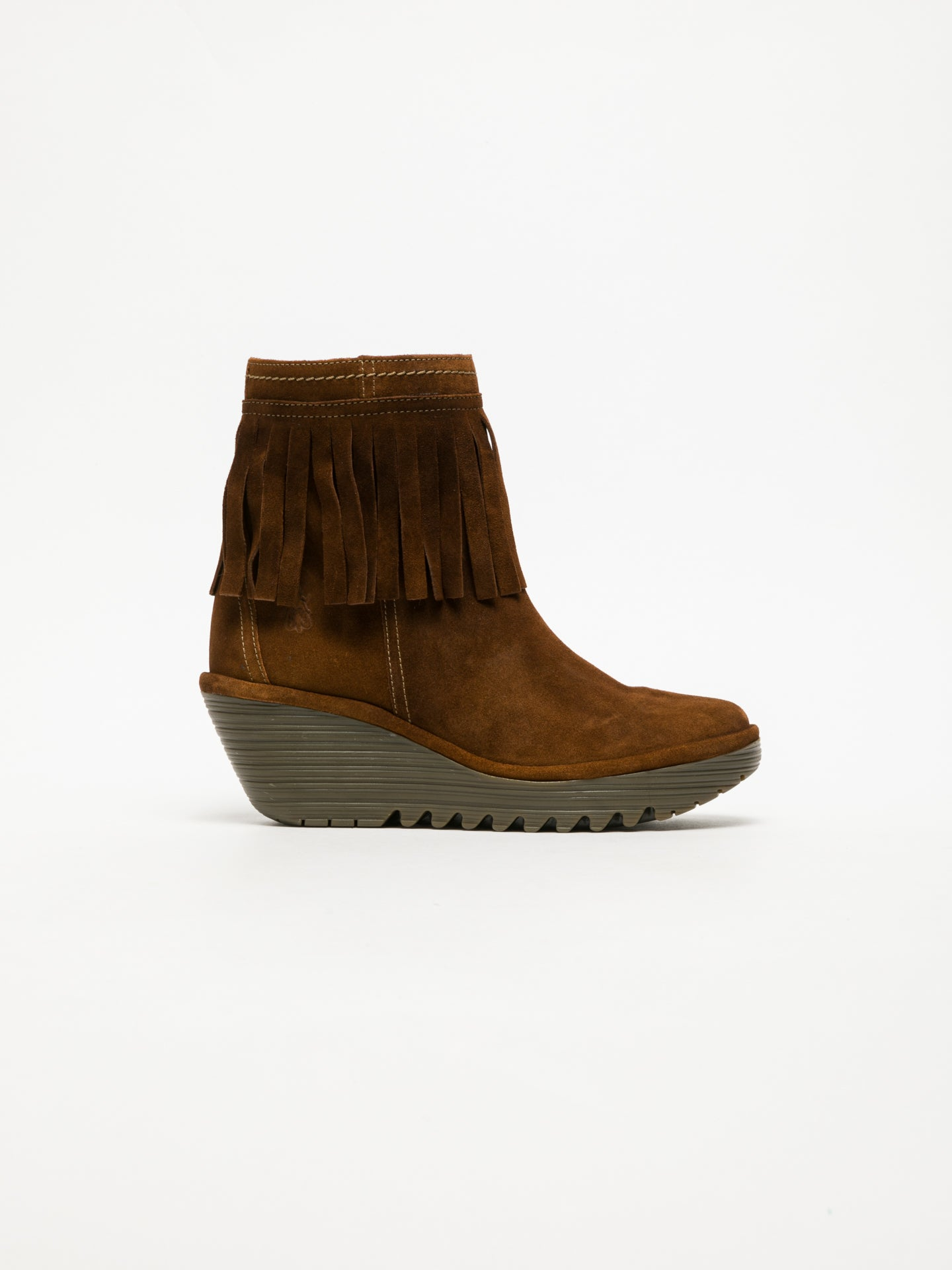 Fly London Peru Fringed Ankle Boots
