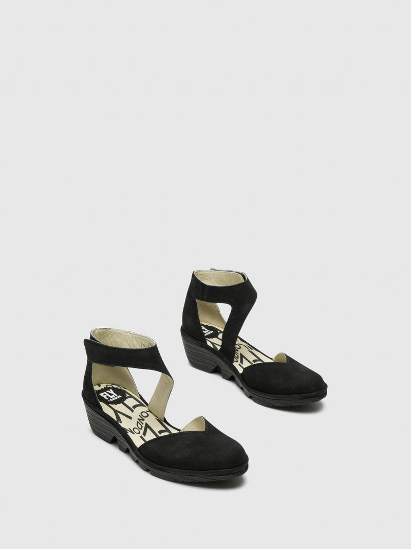 Fly London Black Velcro Sandals