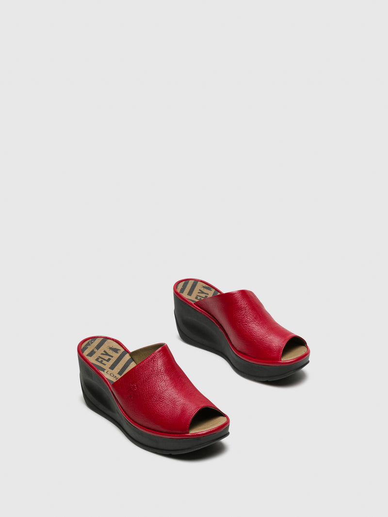 DarkRed Wedge Mules