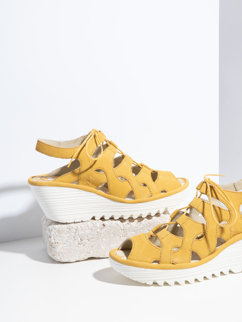Yellow Gladiator Sandals