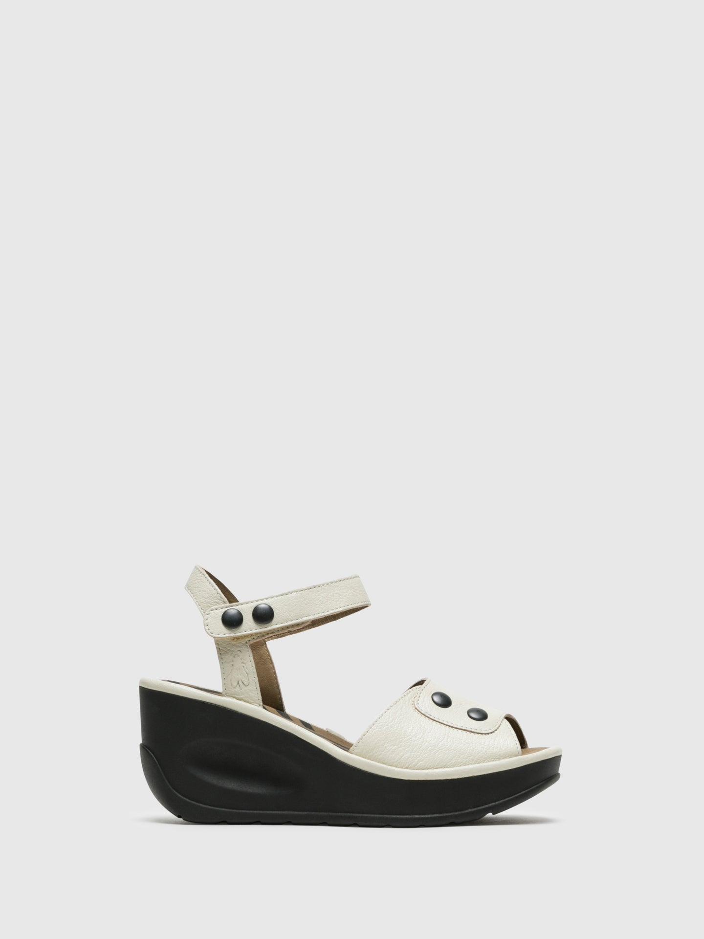 Fly London White Velcro Sandals