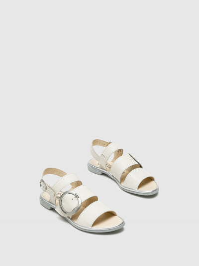 Fly London White Strappy Sandals