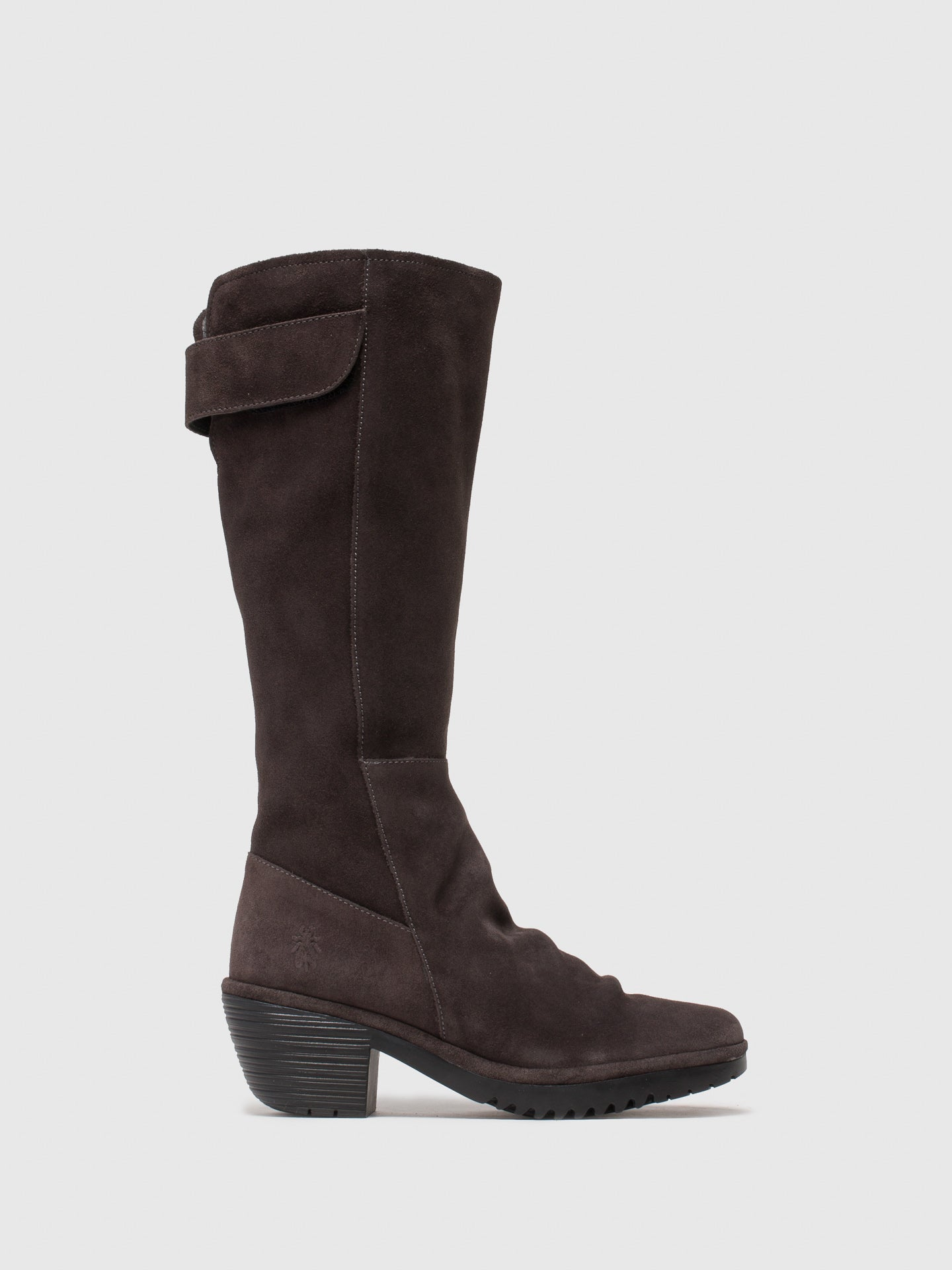 Fly London Gray Zip Up Boots