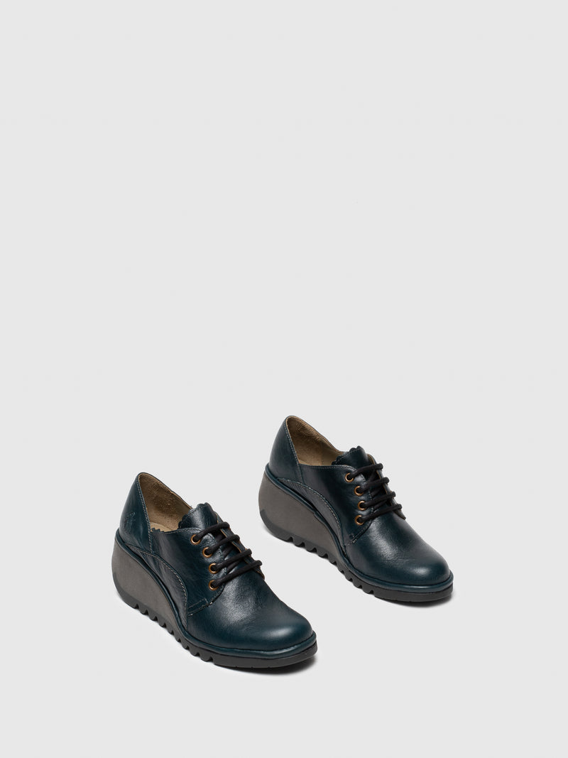 DarkGreen Lace-up Shoes