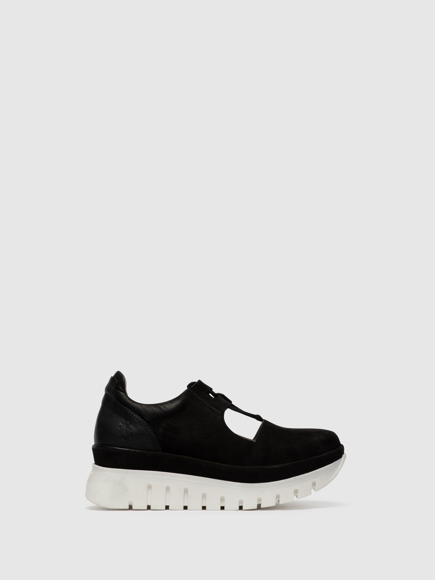 Fly London Black Lace-up Shoes
