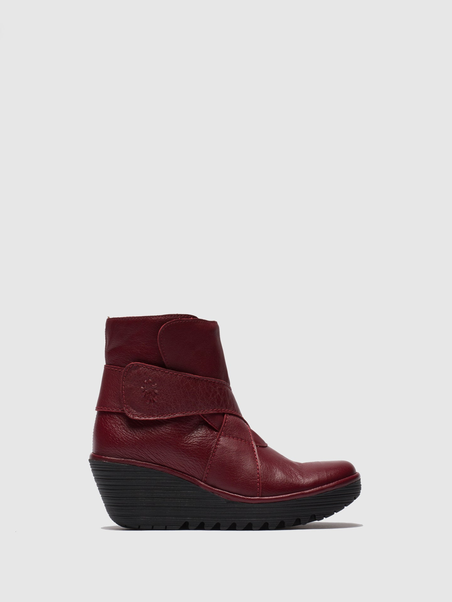 Fly London Red Velcro Ankle Boots