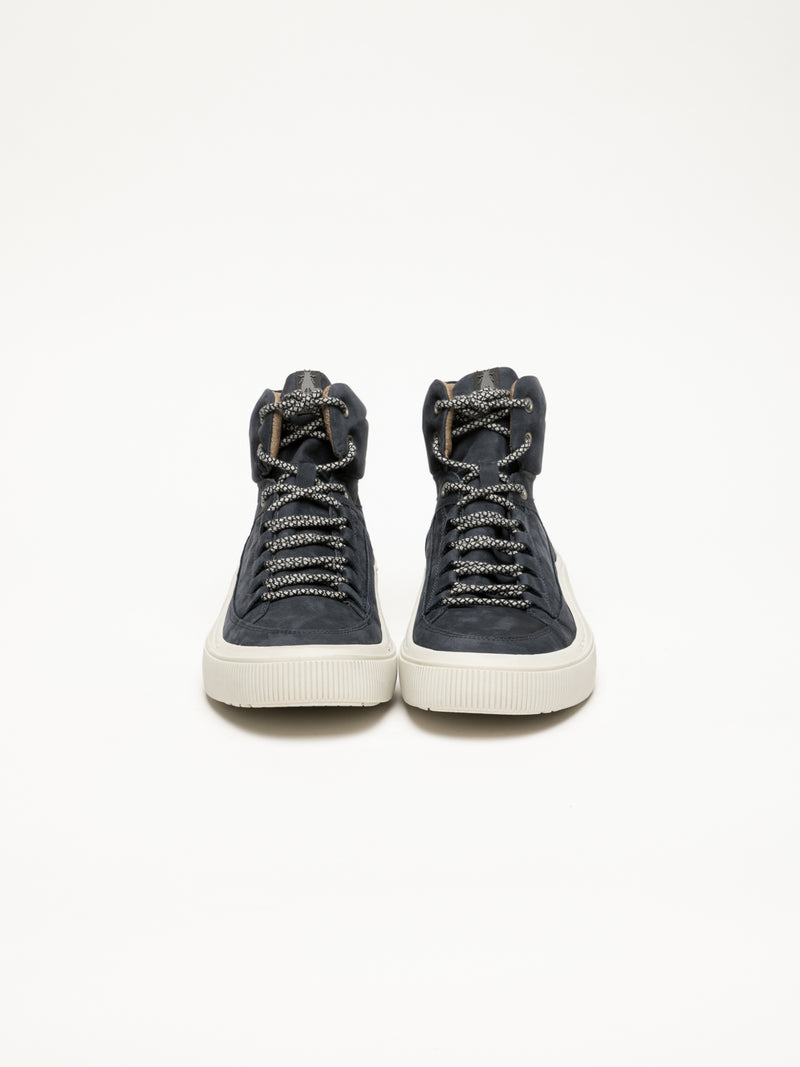 Fly London Navy Hi-Top Sneakers