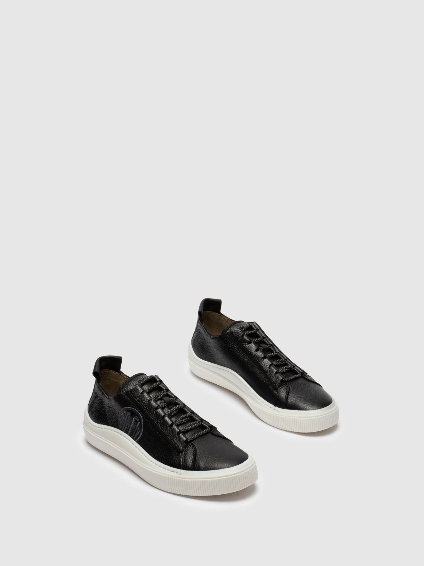Black Lace-up Trainers - Overcube