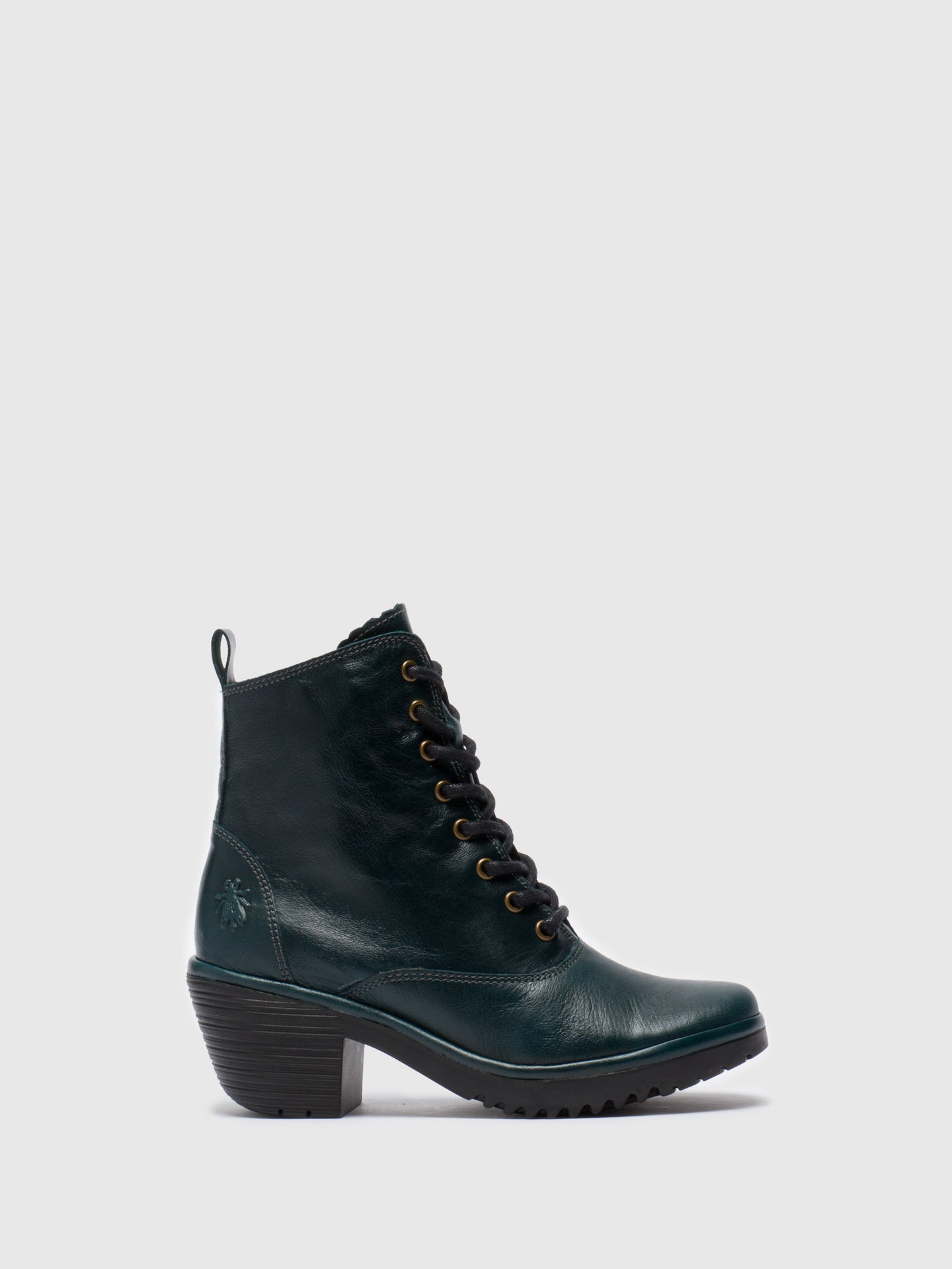 Fly London DarkGreen Lace-up Ankle Boots