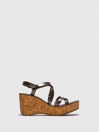 Fly London SandyBrown Strappy Sandals