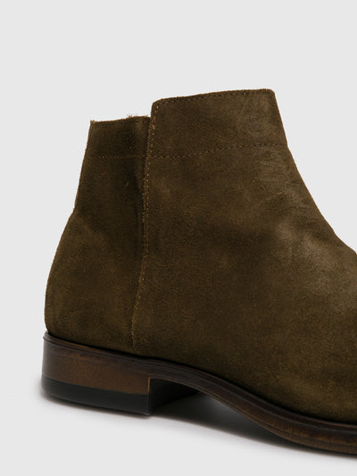 Fly London Green Fringed Ankle Boots
