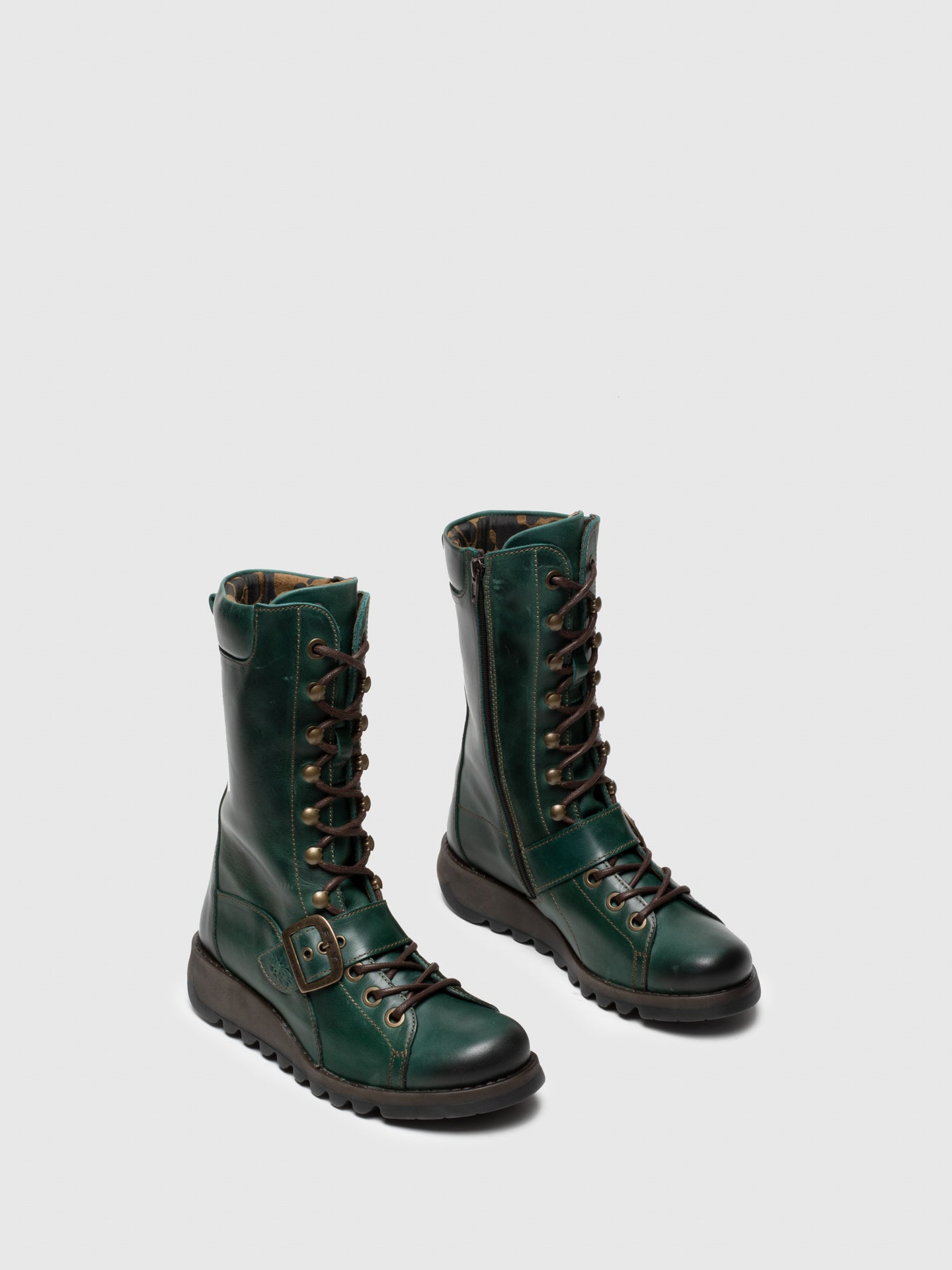Green Lace-up Boots - Overcube