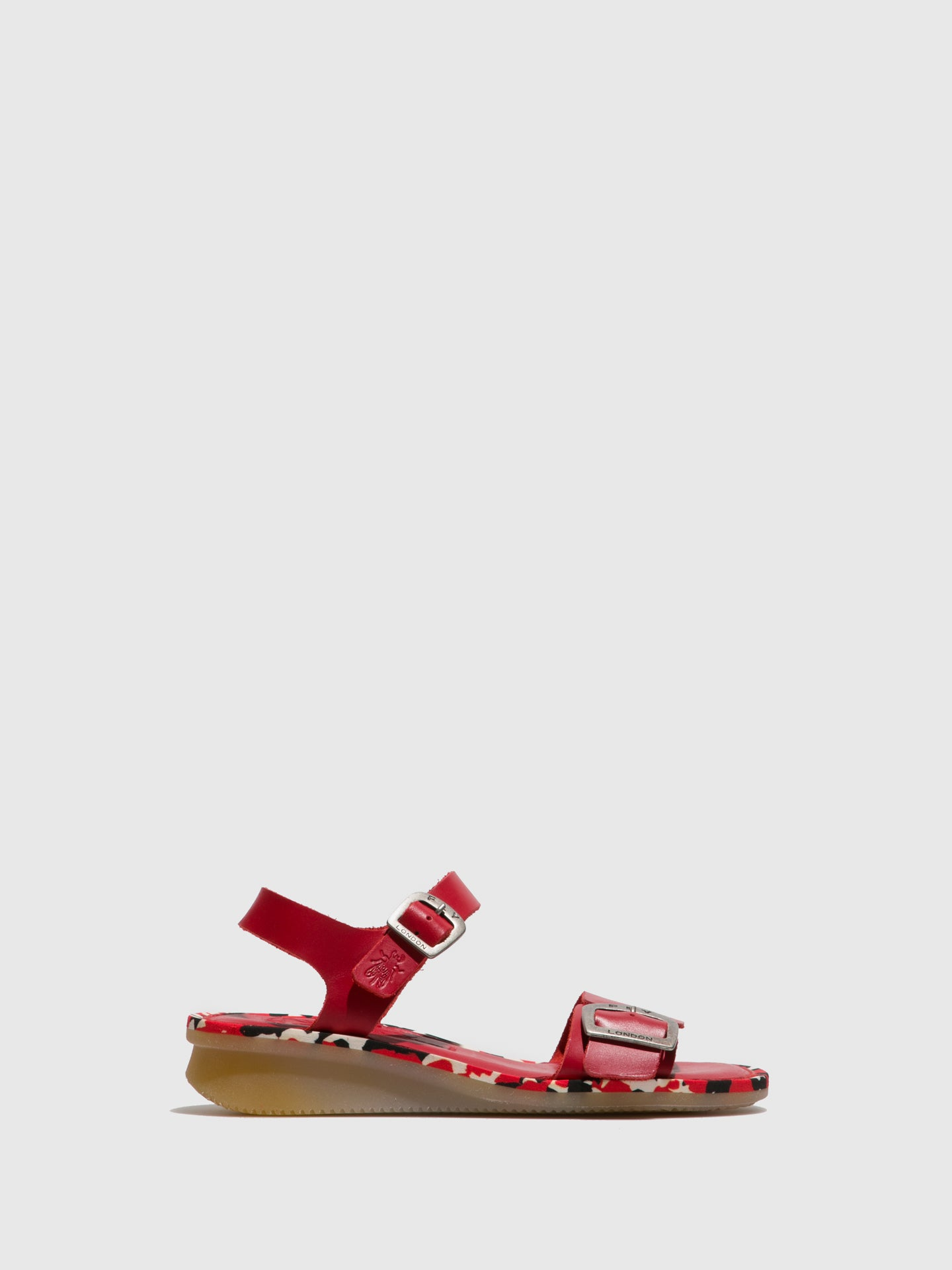 Fly London Red Buckle Sandals