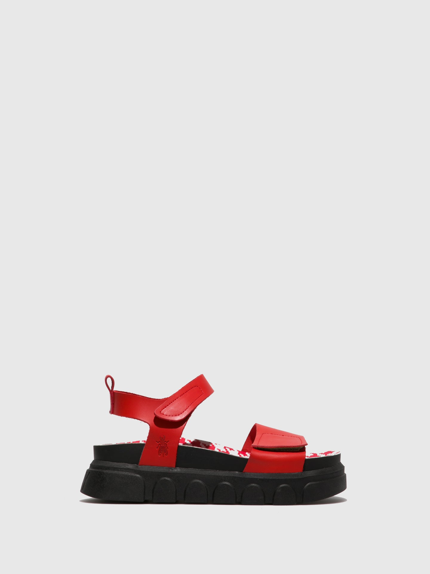 Fly London Red Velcro Sandals
