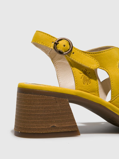 Fly London Yellow Open Toe Sandals