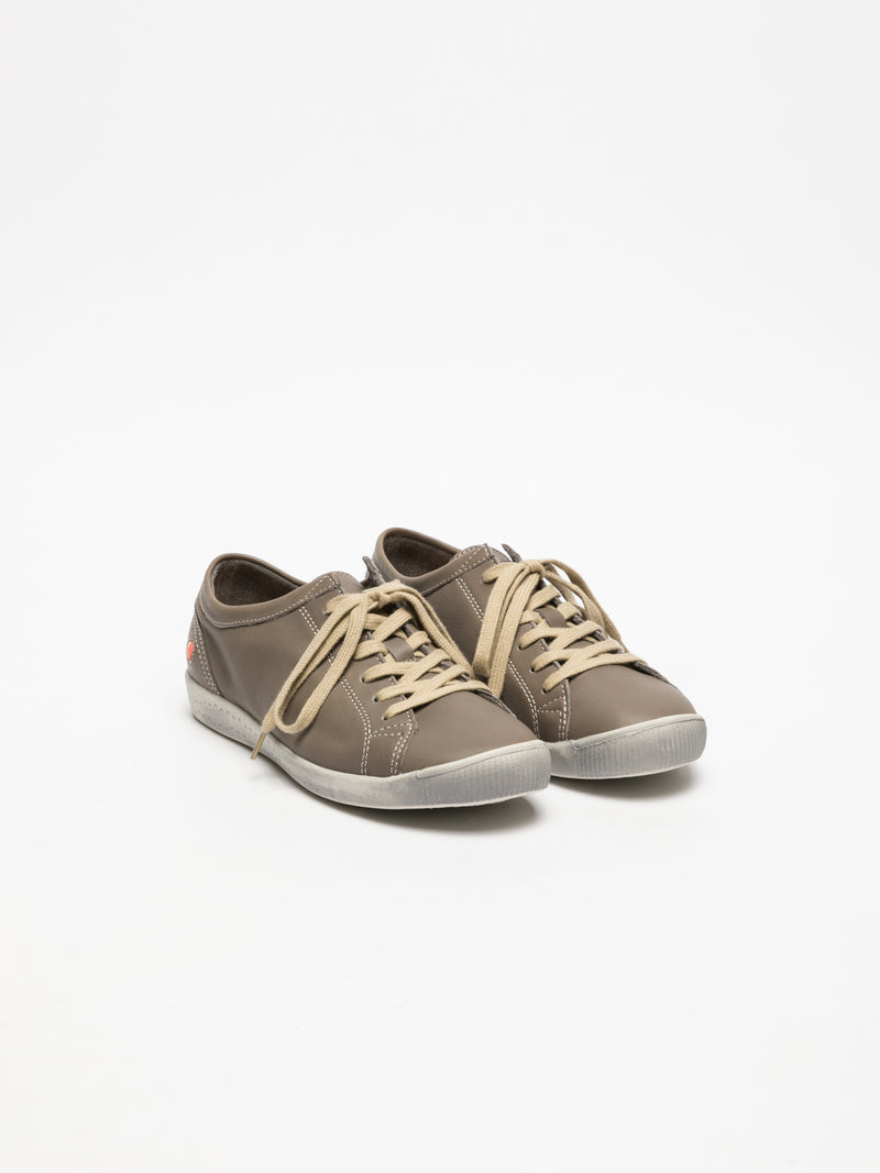 SOFTINOS RosyBrown Lace-up Sneakers