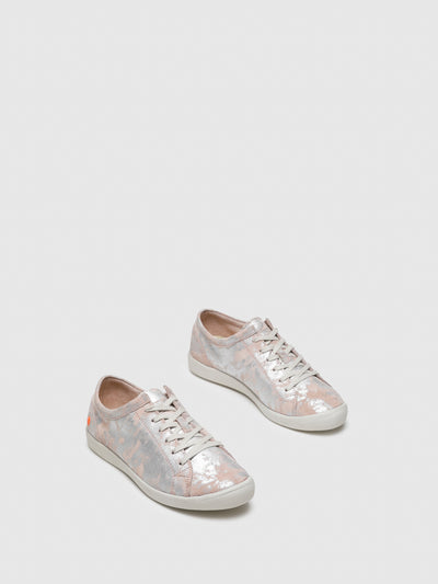 SOFTINOS Pink Lace-up Sneakers