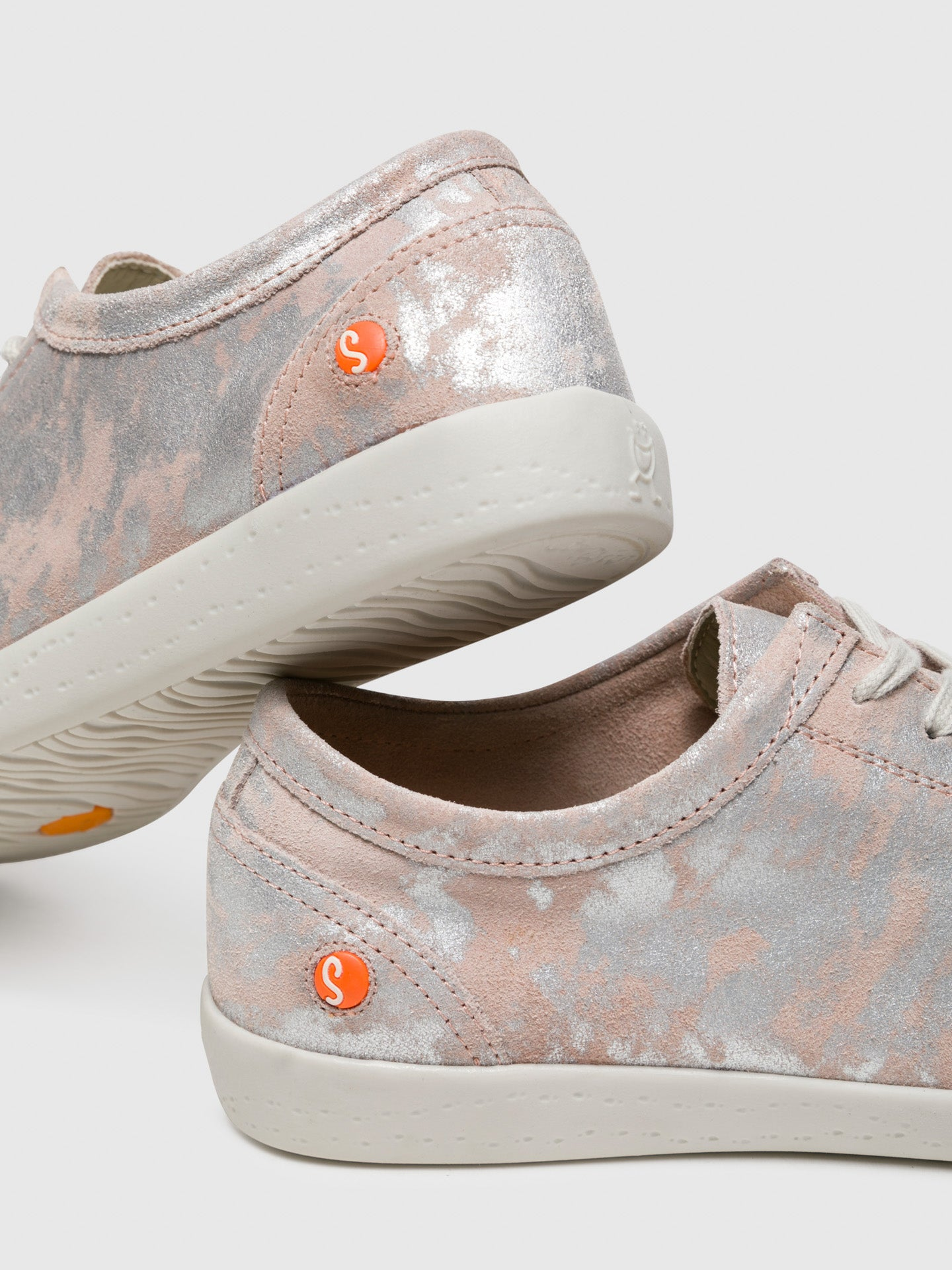 Pink Lace-up Sneakers - Overcube