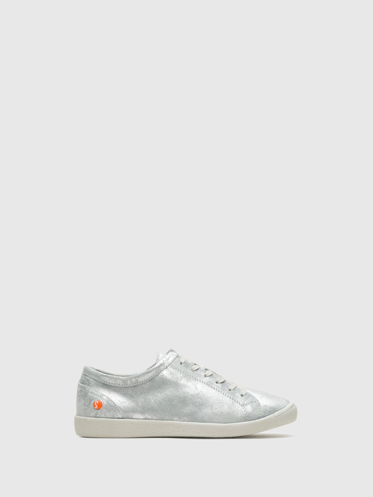 Softinos White Lace-up Sneakers