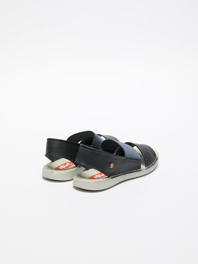 SOFTINOS Navy Sling-Back Sandals