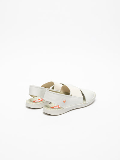 White Sling Back Sandals Overcube
