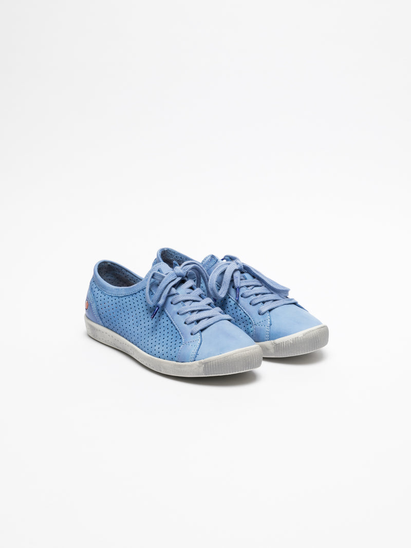 LightBlue Lace-up Sneakers