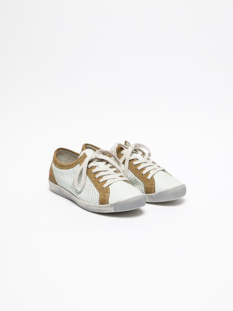 Softinos Peru White Lace-up Sneakers