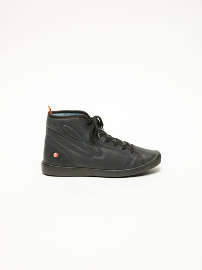 SOFTINOS Navy Hi-Top Sneakers