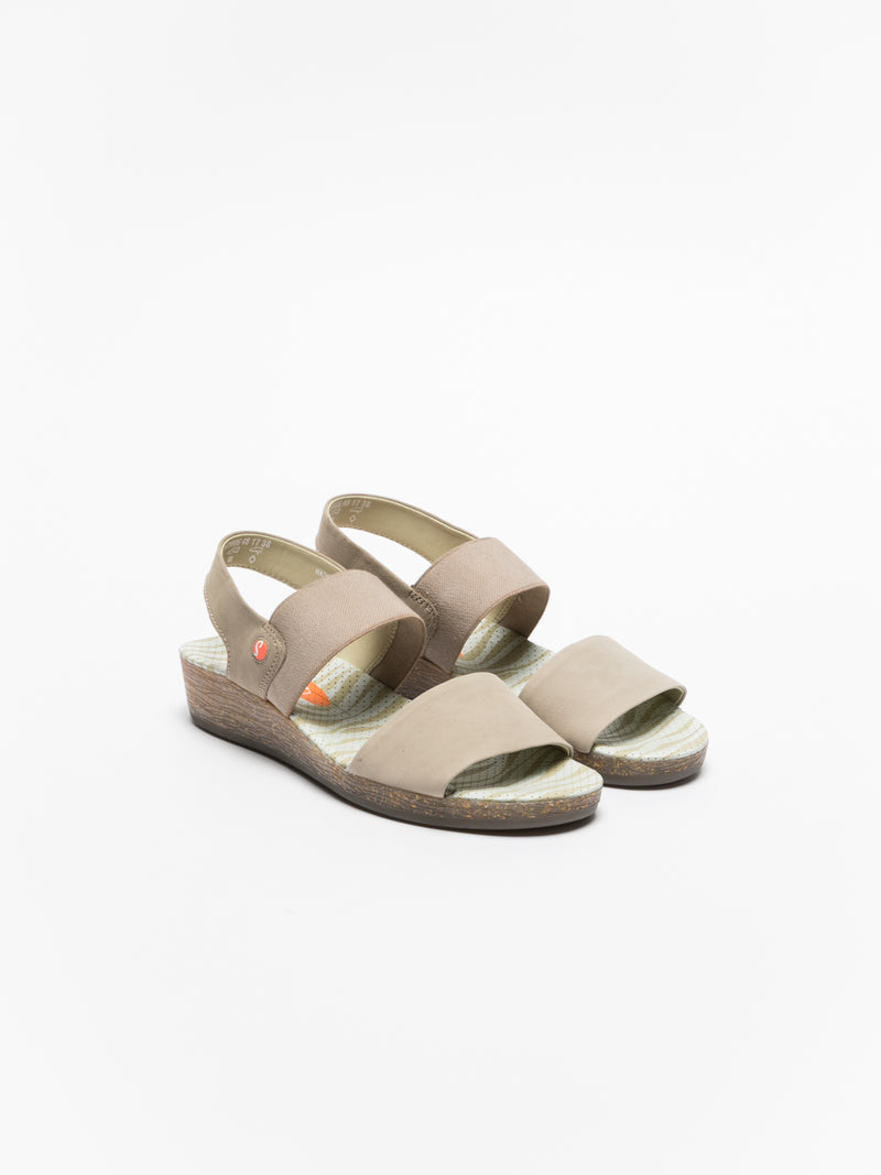 SOFTINOS Tan Strappy Sandals