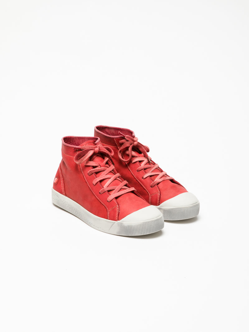 Softinos Red Hi-Top Sneakers