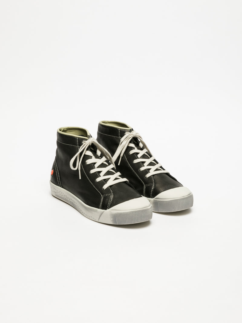 Black Hi-Top Sneakers