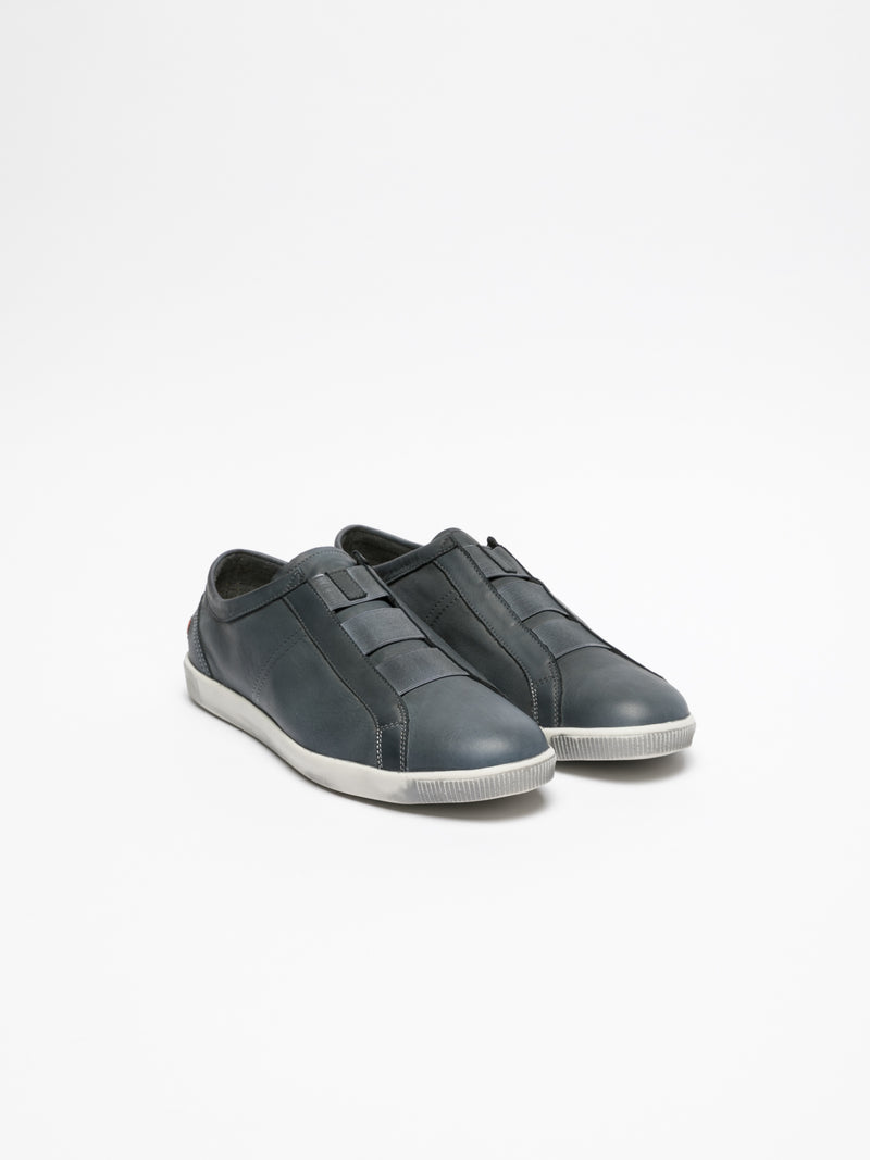 Softinos Navy Elasticated Sneakers