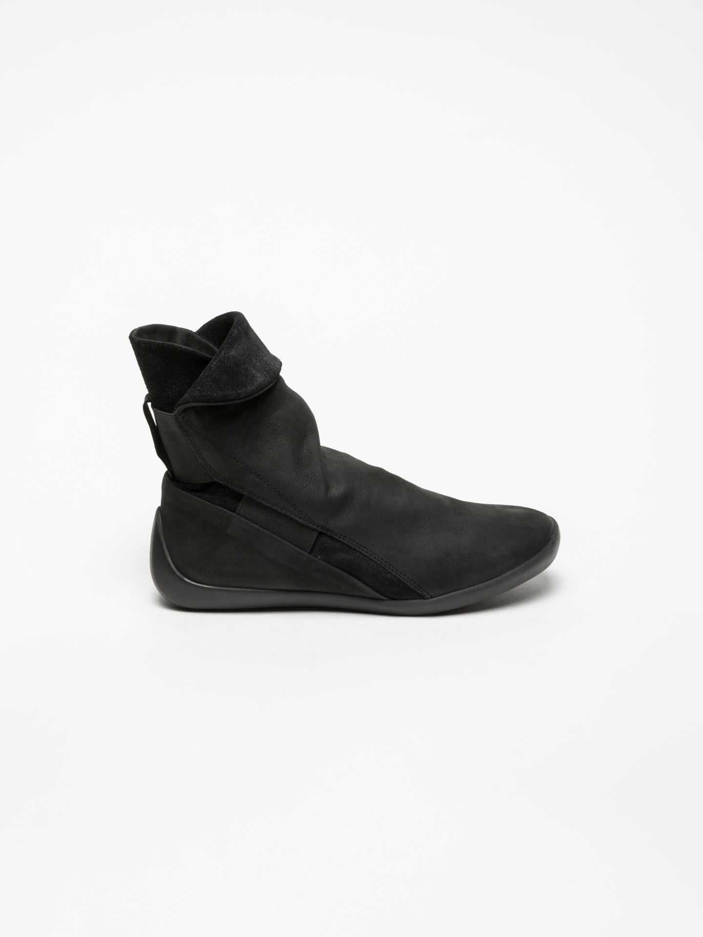 SOFTINOS Black Elasticated Ankle Boots