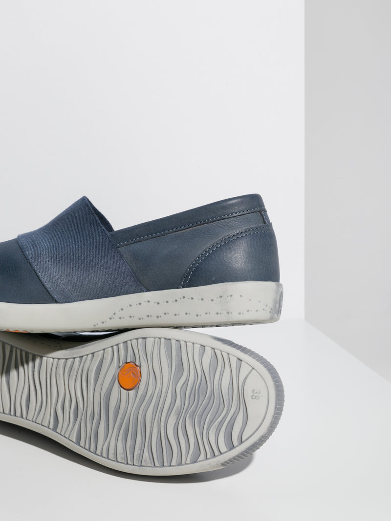 SOFTINOS Navy Slip-on Sneakers