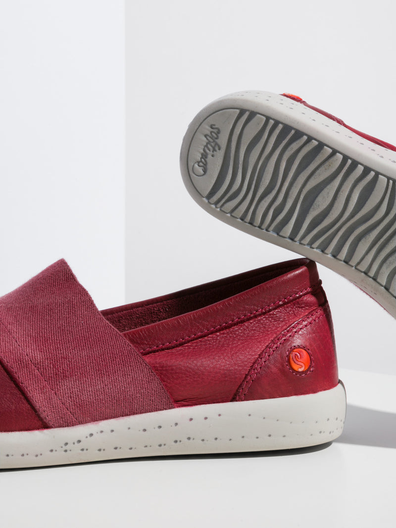 Red Slip-on Sneakers