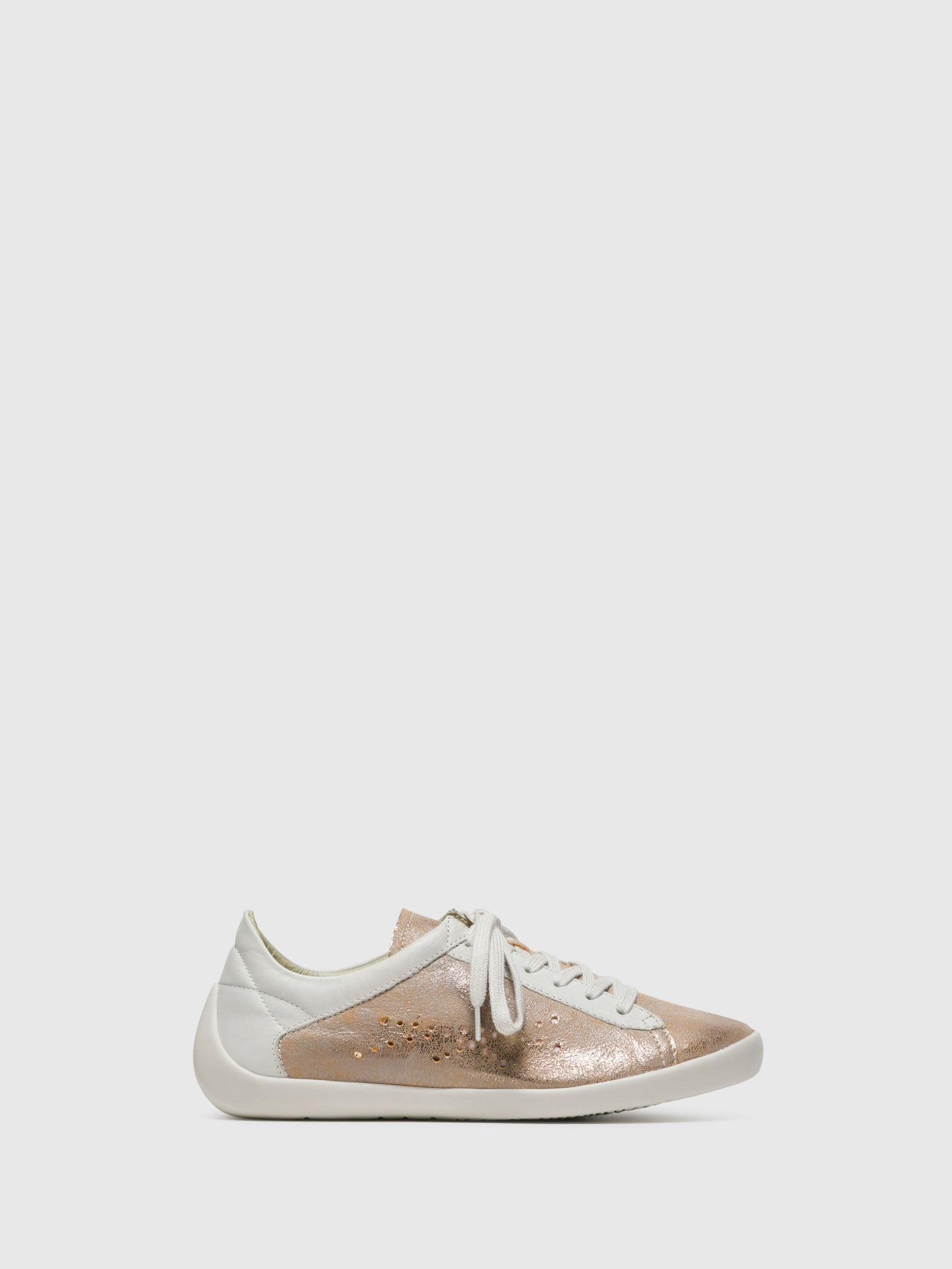 SOFTINOS SandyBrown Lace-up Sneakers